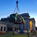Last nights installation of Henry Moores Hill Arches @FitzMuseum_UK Cambridge https://t.co/07fksM0y2R
