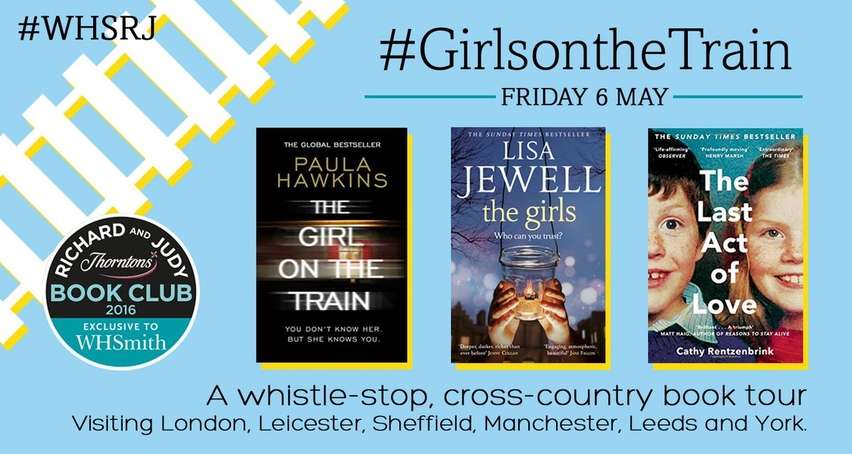 The Girls is on the Richard & Judy book list! Tomorrow me, @PaulaHWrites & @CathyReadsBooks are doing this! https://t.co/uvD6eQR03I