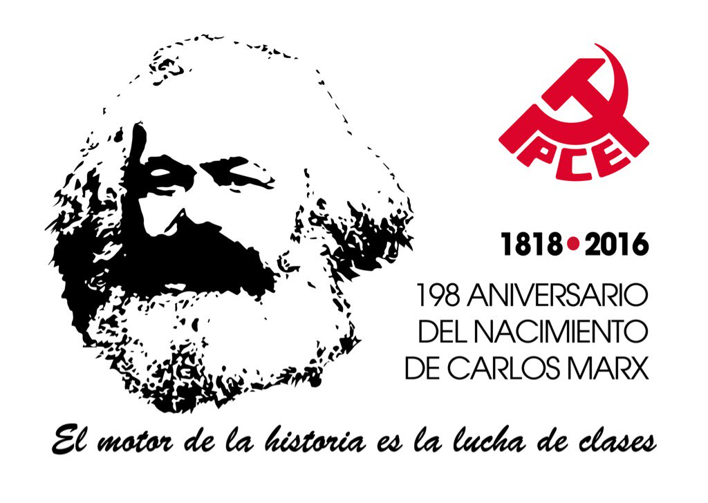 """198 aniversario del nacimiento de #KarlMarx """"El motor de la historia es la lucha de clases"""" https://t.co/qpYFLXN2nc"""
