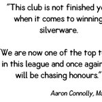 Some strong words from our captain Aaron Connolly after his re-signing for the 2016/17 season! https://t.co/gnQG6YU8Gf