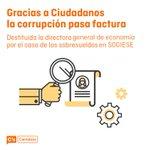 En @ciudadanoscs trabajamos contra la corrupción, gracias a @cscantabria destituyen a la directora gral. de economía https://t.co/qgWtBHTvqm