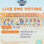 [MCOUNTDOWN] ONCEs, take note that you can only send the vote as TWICE, and not in hangul! Lets do well together! https://t.co/zNL9S1PzvU