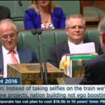 Dutto nap and Scott Morrisons resting bitch face for Bill Shorten is my favourite budget-in-reply reax https://t.co/x7d17NJwYc