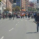 #Ahora la marcha de personas con discapacidad se encuentra en la Av. Mariscal Santa Cruz #ANF https://t.co/tXm6D5Ufwn