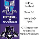 GAME DAY! 7pm *Varsity Only* CHS hosts the Portland HS Panthers. #FillTheHill #CHSmensoccer #SinkoDePanthers https://t.co/wYYA2RCQZW