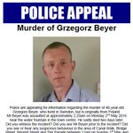 Appeal poster following murder of Grzegorz Beyer, 40, in Swindon on May 2nd. Please share and call 101 with info. https://t.co/CpgSUwjn12
