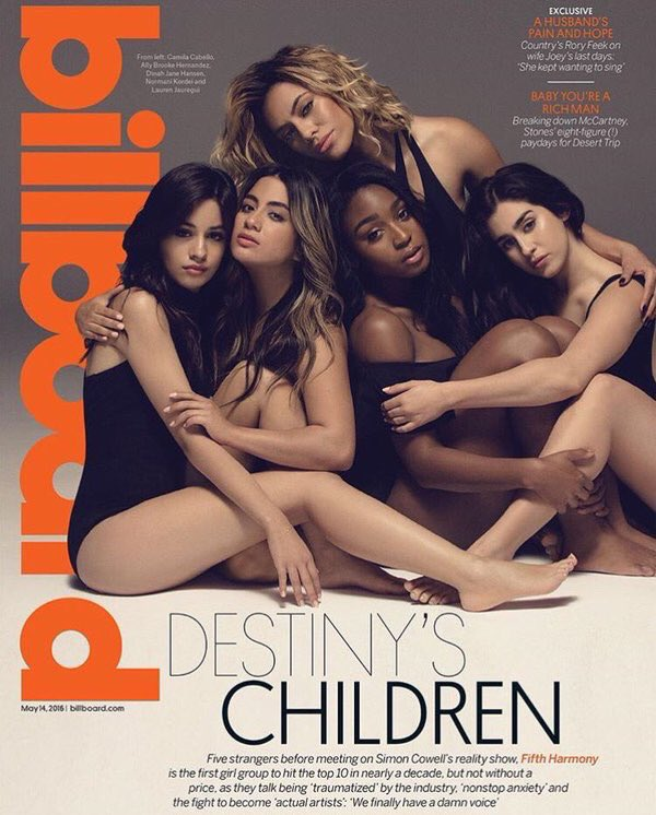 Huge shout outs to the girls @FifthHarmony for that @billboard cover