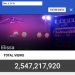 @elissakh you crossed 2.5 Billion views on #YouTube the only Arab singer that reached the Billions 👏🏻 #ProudOfElissa https://t.co/kt19gC4iM9
