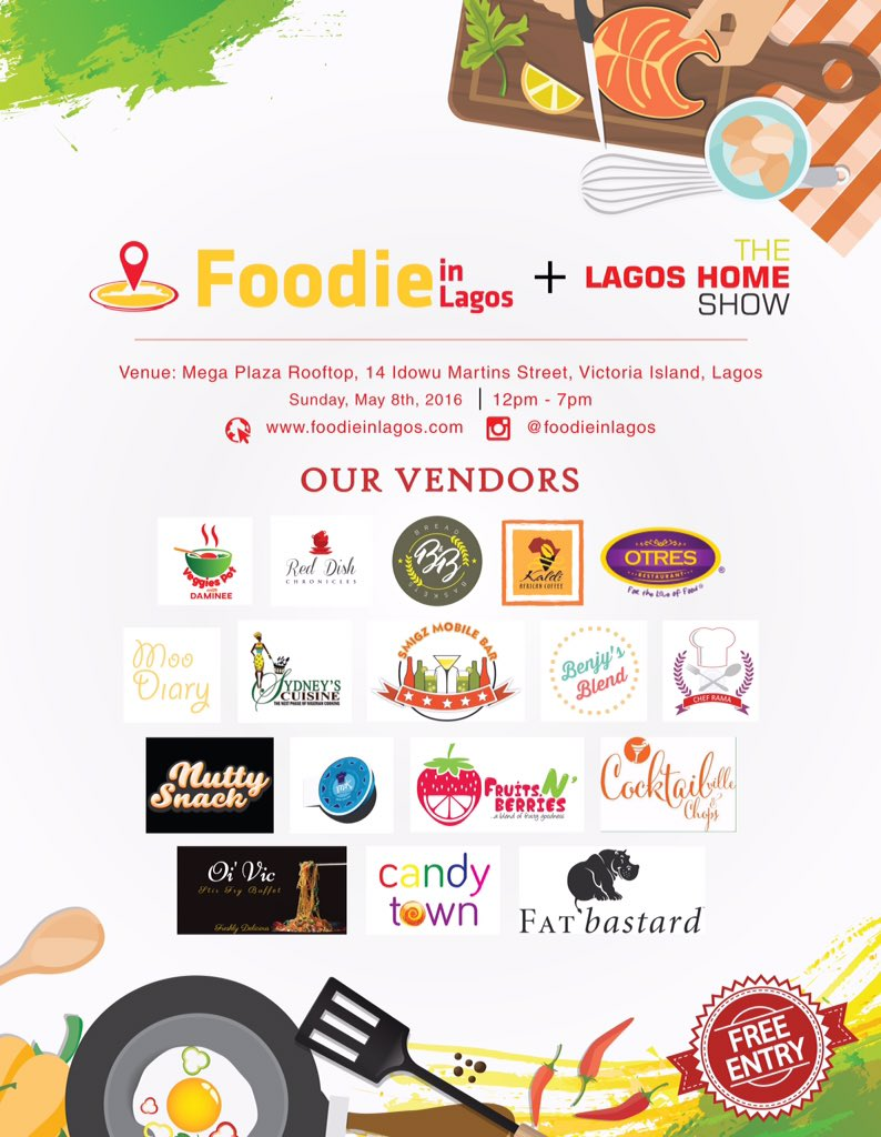 The Foodie in Lagos Food Fair is almost here! Look at our vendors