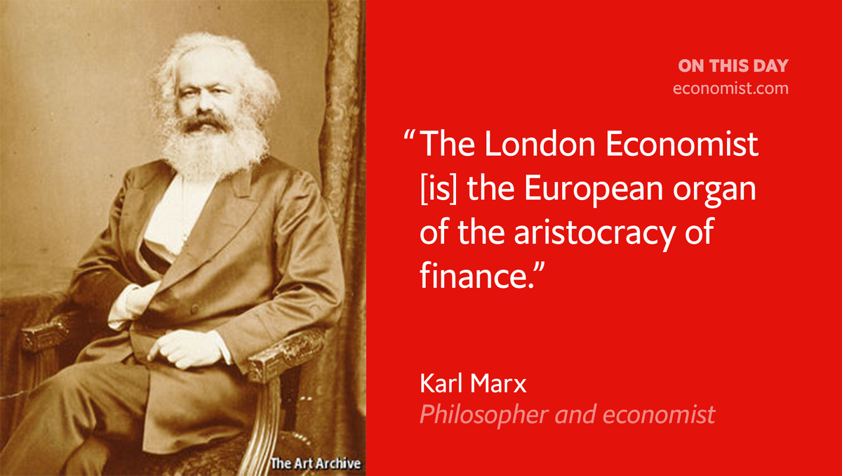 Karl Marx was born #onthisday 1818. He sat and read The Economist in the British Museum https://t.co/LGKkaXgbl9