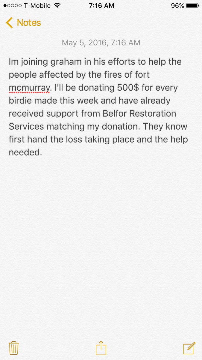Love what @GrahamDeLaet is doing and I want to do my part. Proud to have @BELFORGroup on board! #ymmstrong https://t.co/3VP33VowP0