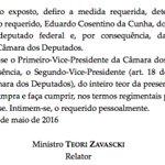 Leia a íntegra da liminar de Teori afastando Cunha do mandato https://t.co/9xJVPh0liU https://t.co/zN9gbHzTjJ