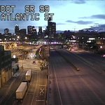 Pretty start to the day! Day 7 of the #99closure, Viaduct empty of course, no delays on I-5 yet. https://t.co/PcxWcJjLhL