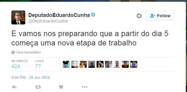 Cunha vai ganhar a vida como vidente, agora. https://t.co/y7YXlxaqsg