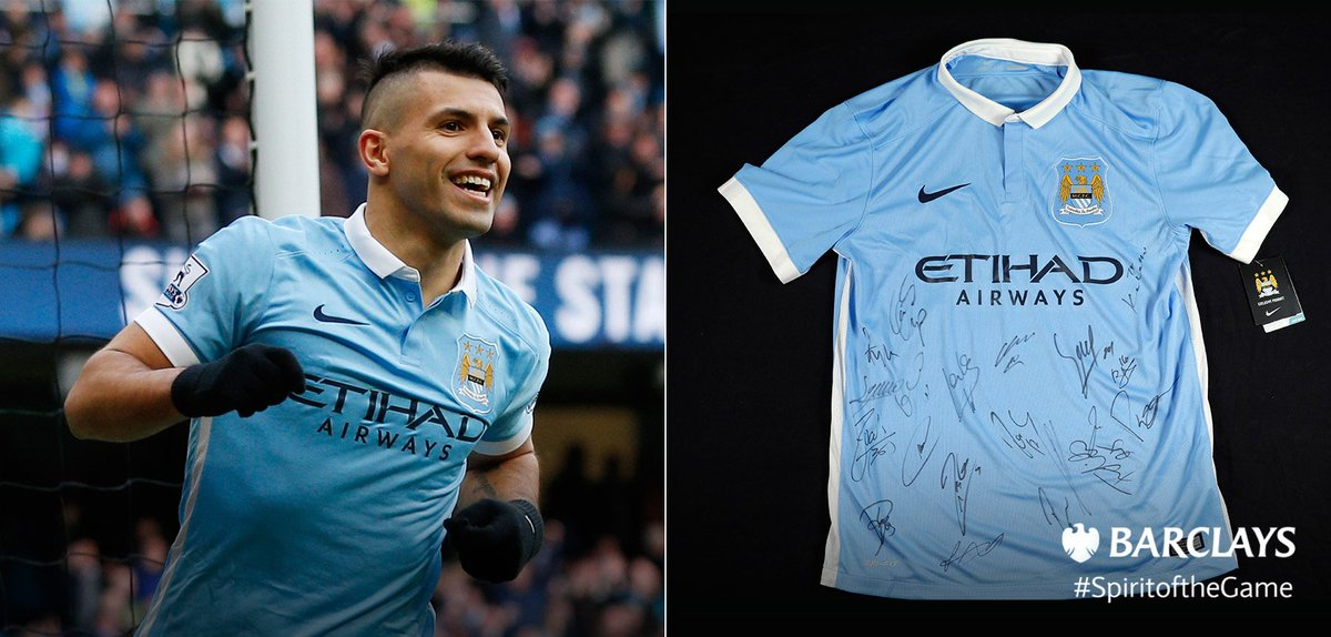 WIN a @MCFC shirt in today's #SpiritoftheGame giveaway, signed by @aguerosergiokun and co. RT to enter! #MCFC https://t.co/k80YqMMArV