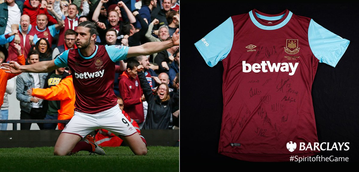 Ahead of @whufc_official's last ever game at the Boleyn Ground, WIN a signed 15/16 shirt. RT to enter by 9pm tonight https://t.co/Uox2WMlXfU