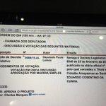 Está na ordem, Decreto Legislativo de nossa autoria, q Revoga o Título de Cidadão Amapaense a Eduardo Cunha. https://t.co/Jyq8VfmBTo