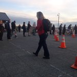 Water Taxi line for first sailing of the day, a few minutes away #99closure https://t.co/xJM0SaLQYq