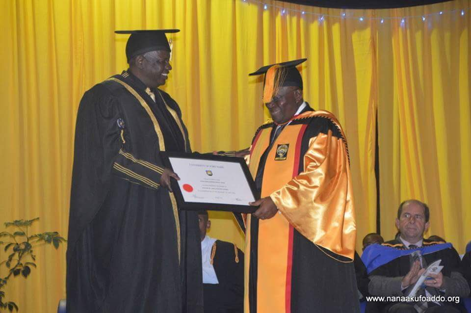 Earlier today, an Honourary Doctor of Laws degree was conferred on me by the University of Fort Hare, South Africa. https://t.co/TI19wVcS0V