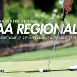 No. 8 Tigers headed to 7th straight @NCAA Regional in Tuscaloosa as a No. 2 seed May 16-18 #WarEagle #NCAAGolf https://t.co/mnHs53oYtF