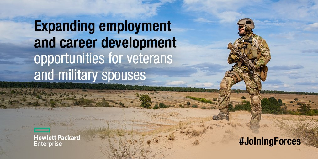 .@HPE proudly supports @JoiningForces pledge to employ veterans & military spouses. https://t.co/sDk11cdp0j https://t.co/VIL5CjOp4x