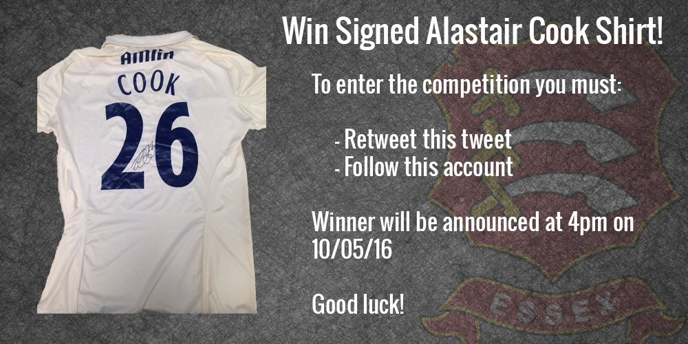 To mark Cooky signing a new contract and already scoring 500+ @CountyChamp runs we are giving away his signed shirt! https://t.co/5PRGCrkSGe