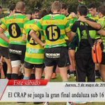 #ElPuerto El @CRAPortuense se juega la gran final andaluza de rugby sub 16 este sábado https://t.co/Orvb1QQ6zl https://t.co/BBlZn6POxm