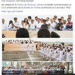 #FelizJueves Se realiza en Veracruz desfile conmemorativo al CLIV aniversario del #5deMayo. https://t.co/ZhIqyzeieo https://t.co/yLXbaA5HoC