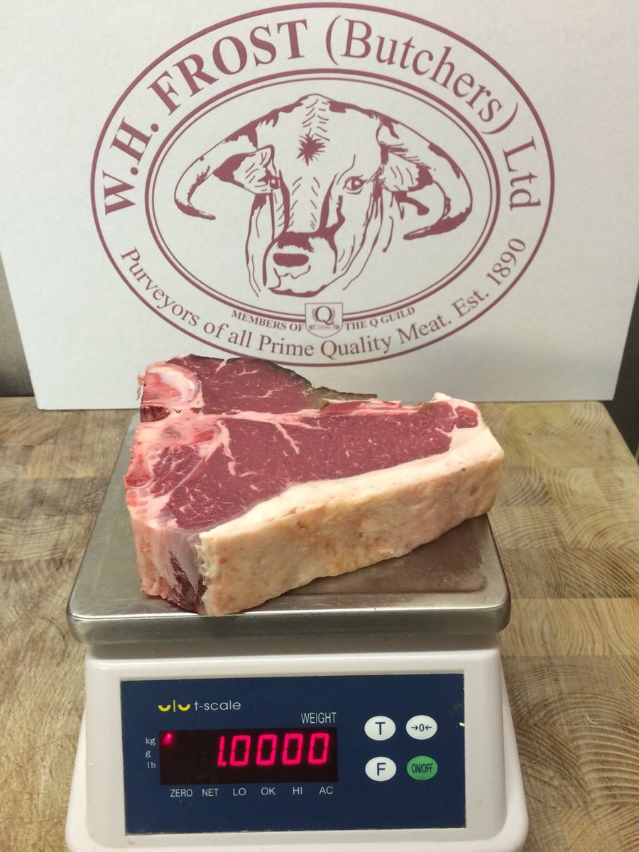 Fancy winning two of these @frostybutcher 1kg 4 wk dry age T bones for a bbq this wknd? RT & follow to enter. Go! https://t.co/cXSABtbWpL