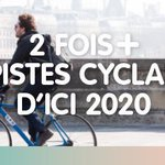 ???????? A #Paris, 2 fois plus de pistes cyclables d'ici à 2020 ???????? #Cities4Climate https://t.co/cUbFi9sadL