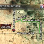 #ACCIDENT: New crash on the SW side, on Cmo Verde N of Valencia. Take Cardinal to Irvington to Ajo. #Tucson https://t.co/fsdqm0qVFw
