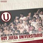 Hoy no es un jueves cualquiera, #HoyJuegaUniversitario 👏  @Universitario vs Melgar 8:00pm - Estadio Nacional #UvsMEL https://t.co/TG23pglkJx