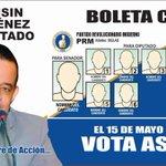 En Santo Domingo Este el 15 de mayo vota así! Por el Diputado Luisin Jiménez. https://t.co/pYda3mUKh1