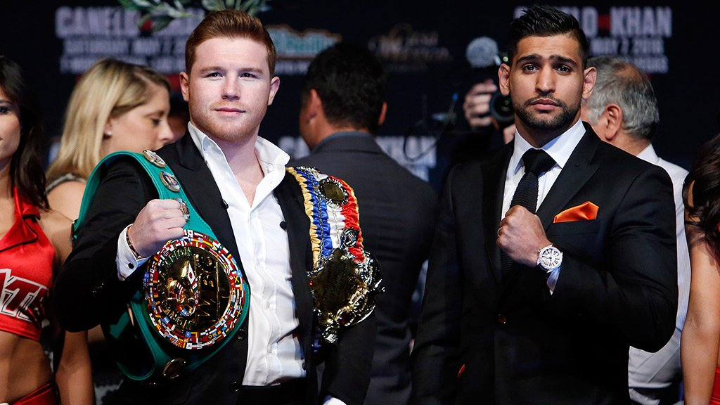 Watch #Canelo face #Khan LIVE at 8 p.m. CT on PPV. Order now: https://t.co/5nh6Zlff2R. https://t.co/bfSTM2XSED