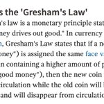 #BondNotes have been useful to us street economists - Learnt Greshams Law & will be throwing it about at the pub!😅 https://t.co/TVLtWzpa1e
