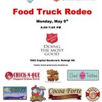 .@RDUMFA hosting #foodtruck Rodeo to benefit @WakeCountyArmy #ProjectCATCH on Monday 5-7pm #Raleigh https://t.co/P8crjzwOLM