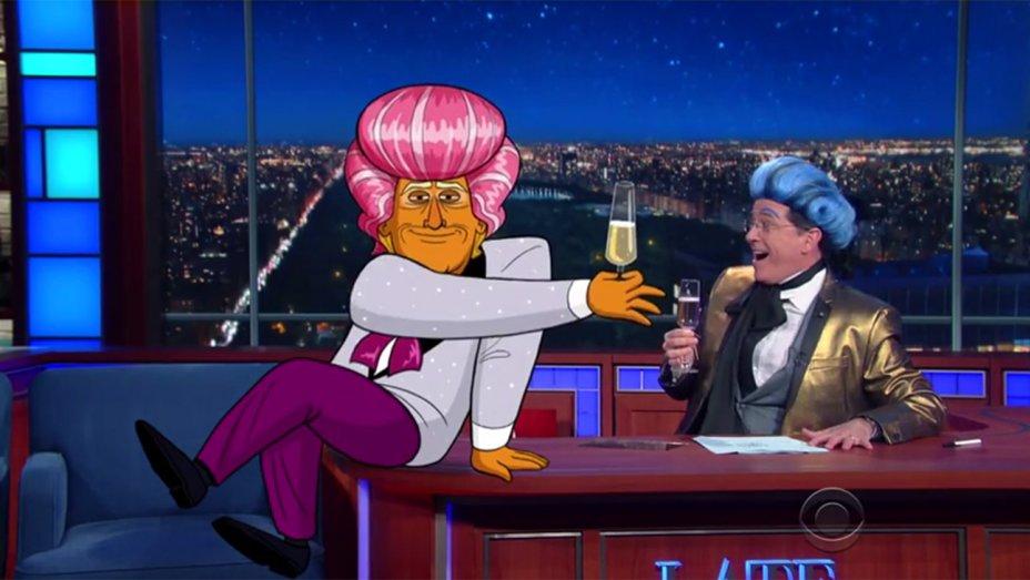 Cartoon Trump, @StephenAtHome deliver 'Hunger Games'-inspired farewell to Cruz & Kasich