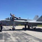 Welcome the F-18 TAC Demo! #FLLAirShow https://t.co/jNE9kTnvsn