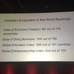 Interesting stats on Canadas ecosystem in world ranking #StartupDay https://t.co/JYQNkZDtjV