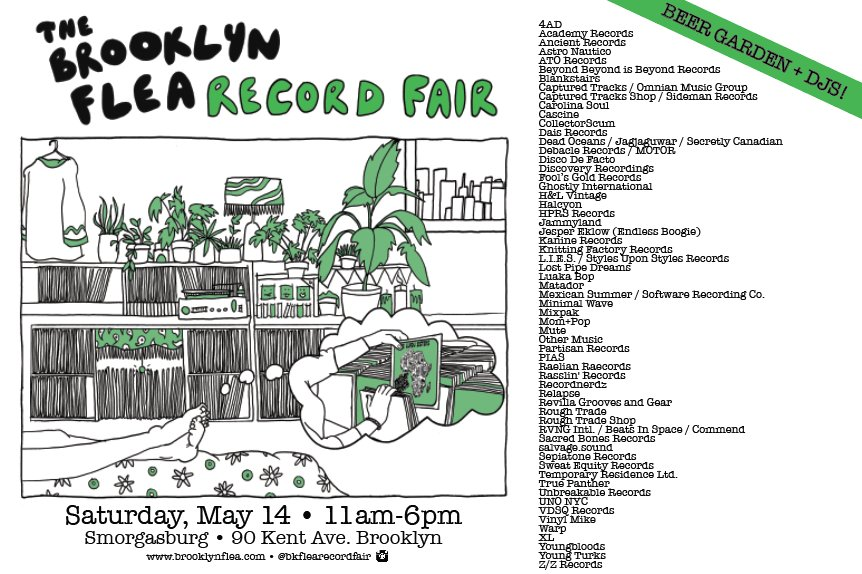 The Brooklyn Flea Record Fair returns Saturday, May 14, 11a-6p, @smorgasburg. Part of @RBMA! https://t.co/tQLMx10CdG https://t.co/vfPehIwfnn