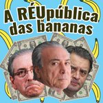 Golpe conduzido por dois bandidos e um conspirador ficha suja. O Brasil será a RÉUpublica das bananas. #Cunha https://t.co/gnoABFcsqg