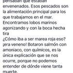#DespiertaChile #Chiloé !! NO es marea roja es Veneno ☠de las #Salmoneras ☠ https://t.co/L1o9FaiGIy