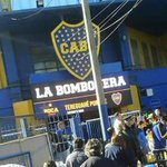 La Bombonera le da la bienvenida en Guaraní al publico de Cerro Porteño foto @cpcarlosiek https://t.co/zZsHpHoHGC