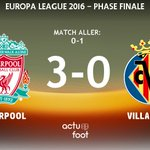 🕘 TERMINE !  Liverpool  3-0  Villarreal   Liverpool se qualifie en finale de lEuropa League 2016 ! https://t.co/R4y3WGP4YG