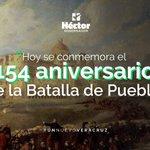 Hoy recordamos la entrega, la valentía y el amor por nuestra patria en el 154 aniversario de la #BatalladePuebla. https://t.co/dmSQ6h12Dc