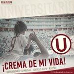 ¡Crema de mi vida! El Apertura aún no termina, sigamos alentando ¡Vamos Cremas! @Universitario vs Melgar #UvsMEL https://t.co/WVeGVBnxwl