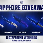 https://t.co/MxTsMFbbpzs SAPPHIRE Knife Giveaway! 5 Knives, 5 Winners! RT & follow to enter. Winner drawn May 12th. https://t.co/ZYeqyxQqgs