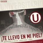 ¡Te llevo en mi piel! El Apertura aún no termina, sigamos alentando ¡Vamos Cremas! @Universitario vs Melgar #UvsMEL https://t.co/RGQAWSUyah