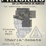 6/may, 19:30h en #Gamonal. Charla-debate sobre el #Fracking en #Burgos. @CsrGamonal @FrackingBurgos @FrackMerindades https://t.co/XvbSKDQ6fi