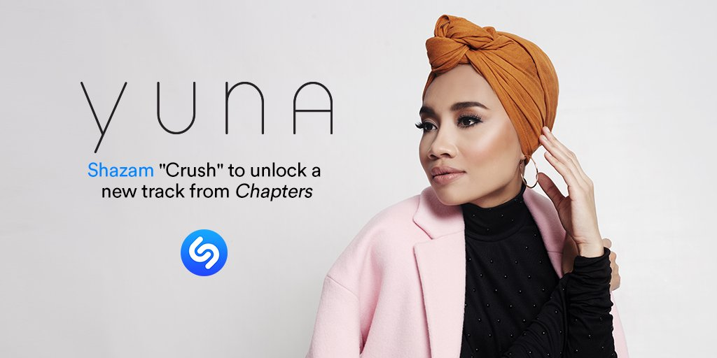 "Hear an unreleased track from @YunaMusic's new album CHAPTERS by @Shazam-ing her single with @Usher ""Crush""!! https://t.co/k1rYKzdznD"